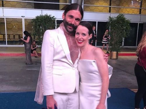 'Queer Eye' star Jonathan Van Ness reportedly helped 'The Crown' star Claire Foy after she was denied from an Emmys party