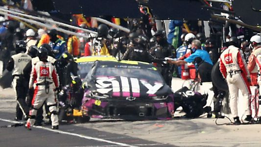 Ryan Blaney Pit Crew Member Zach Price Hit by Car During NASCAR's Brickyard 400