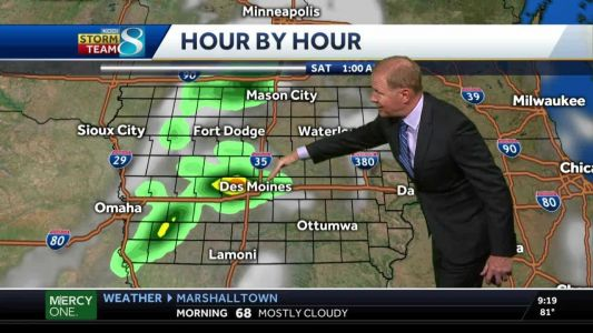 Isolated storms Thursday evening