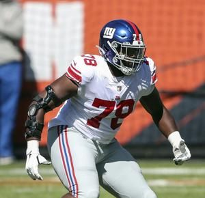 Andrew Thomas meeting Giants expectations at left tackle
