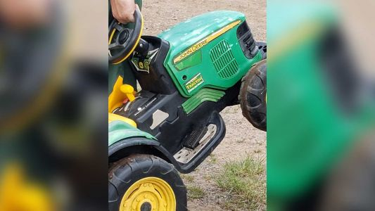 Authorities: Missing toddler drove to county fair on toy John Deere tractor