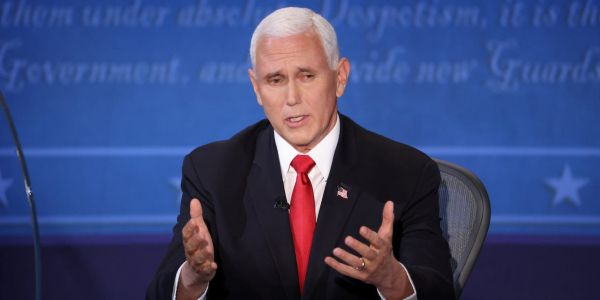 Pence refused to concede climate change is a man-made 'existential threat' during the vice presidential debate