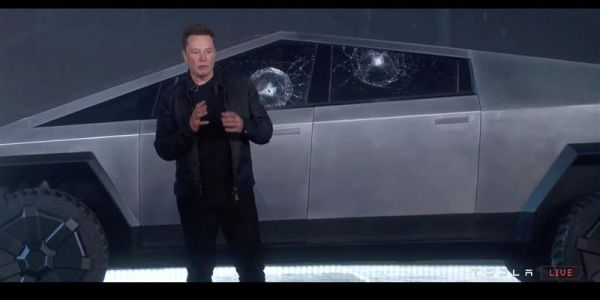 Tesla falls after its Cybertruck's shatterproof windows break in a live demonstration