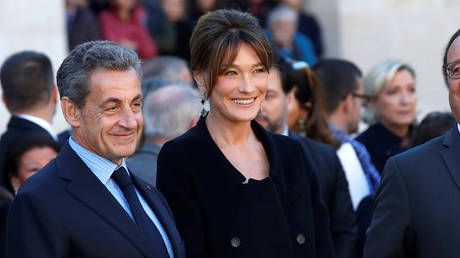 French mag mocked for portraying Sarkozy towering over wife Carla Bruni