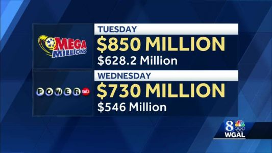 Powerball jackpot rises to $730M; Mega Millions grows to $850M