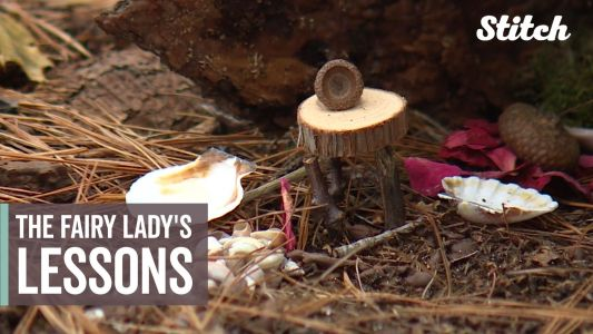 'Fairy Lady' encourages children to explore outdoors by inspiring their creativity, imagination