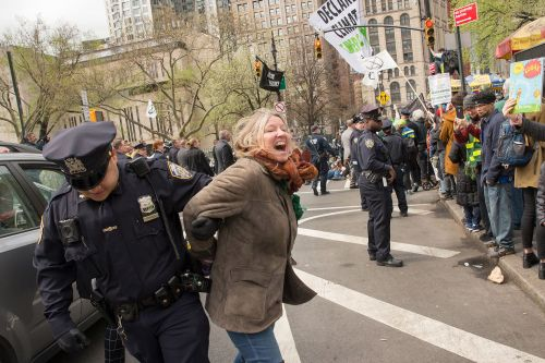 Over 60 people arrested during climate change protest near City Hall