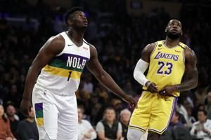 LeBron's 40 bests Zion, sends Lakers past Pelicans 118-109
