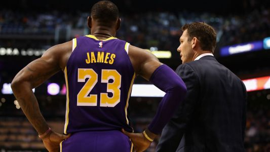 Lakers coach Luke Walton says he and LeBron James 'get along just fine'