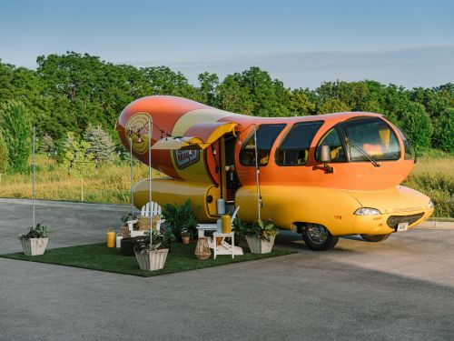 You can now spend a night in Oscar Mayer's 'Wienermobile,' and it's the closest thing to sleeping in a hot dog