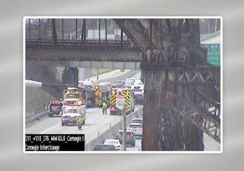Parkway West traffic being delayed by multi-vehicle crash near Carnegie