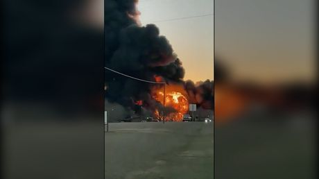 WATCH: Huge EXPLOSION in Texas after train collides with 18-wheeler truck