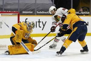 Duchene leads Predators over Blackhawks 2-1 in shootout