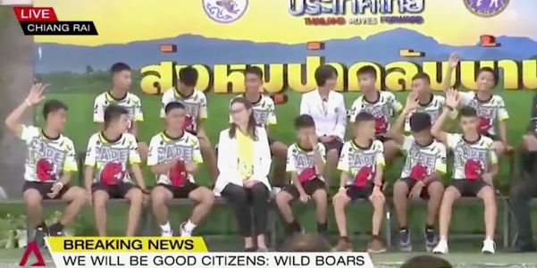 4 of the 12 members of the Thai soccer team now want to be Navy SEALs when they grow up