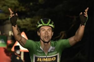 Roglic wins 8th stage of Vuelta, closes gap to Carapaz