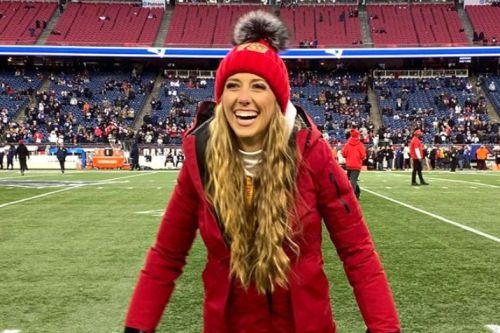 Security had to save Brittany Matthews, Patrick Mahomes' girlfriend, from Patriots fans