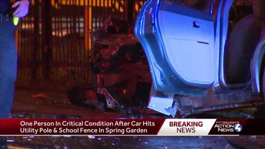 1 person in critical condition after early morning crash in Spring Garden