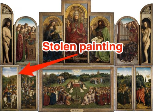 A Belgian city is begging people not to dig up its central square to find a stolen Renaissance painting that might be buried there