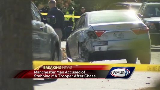 Trooper stabbed, NH man shot after chase, police say