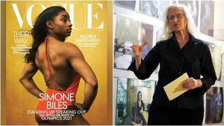 'Couldn't they have hired a black photographer?' Social justice warriors pick holes in Simone Biles' Vogue cover shoot