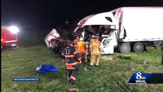Tractor Trailers Collide On Interstate 81 in Cumberland County