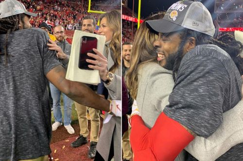 Erin Andrews and Richard Sherman hug it out 6 years after bizarre interview