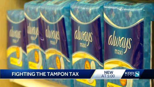 Women in Iowa fight back against state's 'tampon tax'