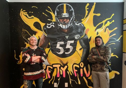 Pittsburgh artist Cody Sabol's latest client is the Steelers' Devin Bush