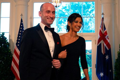 Stephen Miller weds Pence press secretary - with Trump in attendance