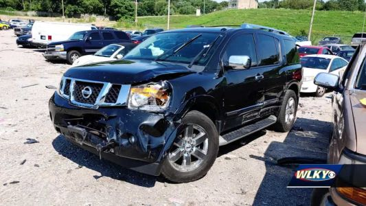 Stolen SUV involved in violent police pursuit left a total loss, three people arrested