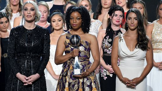 Sex abuse victims join hands, accept courage ward at ESPYs