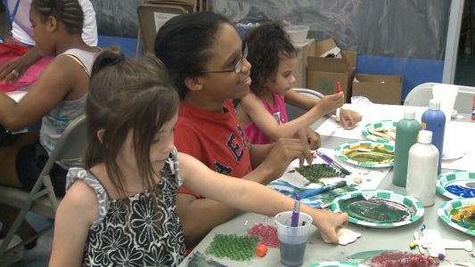 Summer art camp held for kids with autism