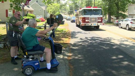 Local World War II veteran surprised with parade on D-Day anniversary