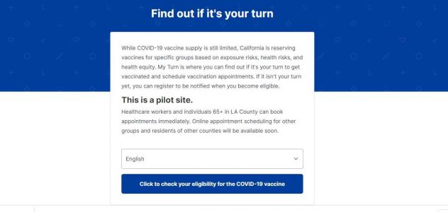 California launches COVID-19 vaccine site to check eligibility, schedule appointments