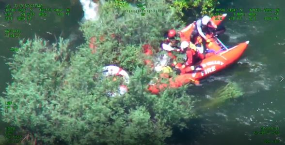 Crews rescue 12-year-old who fell into American River