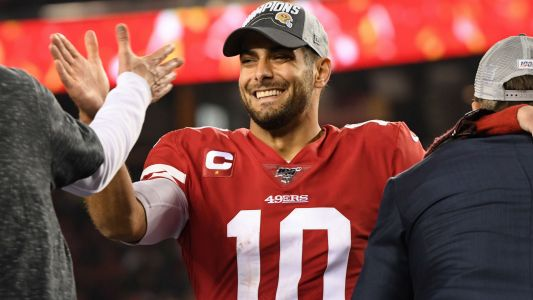 Here are all 11 of Jimmy Garoppolo's passes from an amazingly effortless NFC championship performance