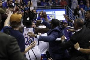 Kansas suspends De Sousa indefinitely for K-State brawl