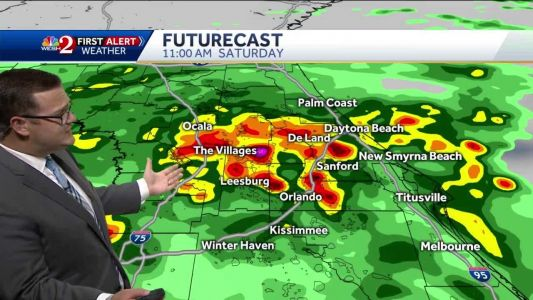 Wet forecast for your Saturday
