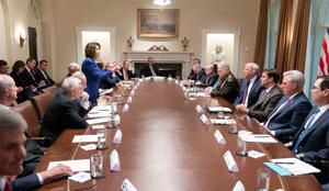 Trump's tweet of 'unhinged meltdown' becomes Pelosi cover photo