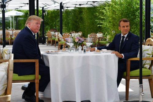 Trump lunches with Emmanuel Macron before G-7 as trade tensions rise