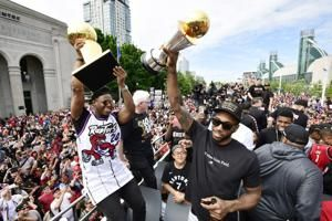 The Latest: Police: 4 shot at Raptors rally in Toronto