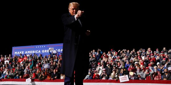 Trump told a crowd of his nearly all white supporters that they have 'good genes'
