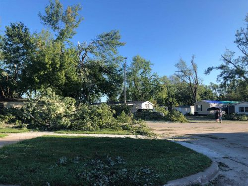Debris cleanup begins across Iowa following Monday derecho