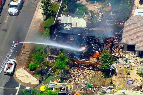 Natural gas explosion levels California home, killing 1