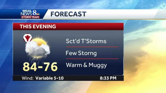 Strong To Severe T'Storms This Evening; More T'Storms Friday