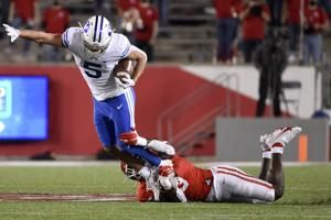 Wilson throws 4 TDs in No. 14 BYU's 43-26 win over Houston