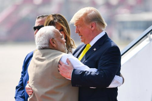 Trump receives warm welcome upon arrival in India for two-day trip