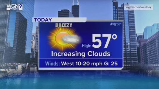Tuesday Forecast: Temps in upper 50s with breezy conditions