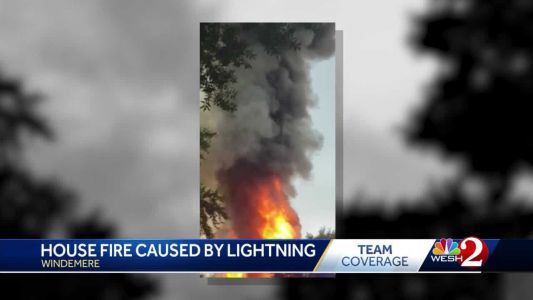 Windermere house fire caused by lightning, officials say