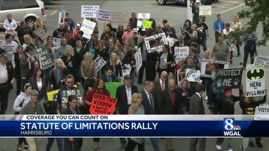 Child sex abuse victims march to end statute of limitations